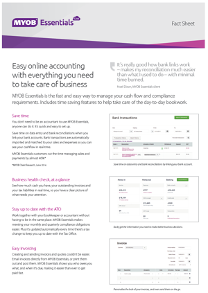 MYOB Essentials Fact Sheet